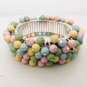 NEW Guess Pastel Beaded Stretch Bracelet